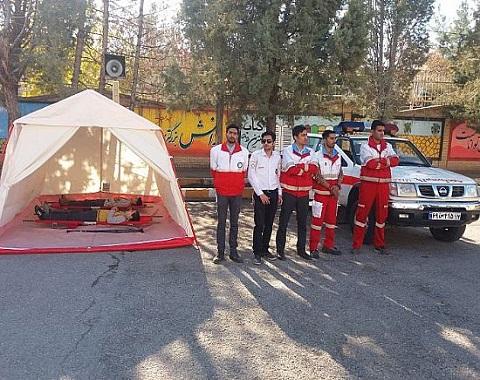 اجرای مانور زلزله در آموزشگاه