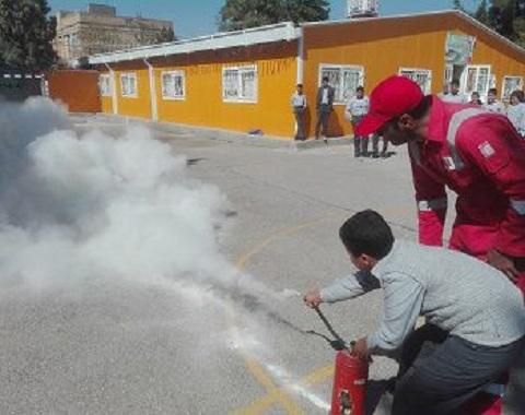 آموزش اطفاء حریق در آموزشگاه