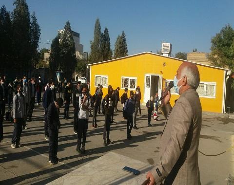 گرامیداشت هفته نیروی انتظامی در آموزشگاه